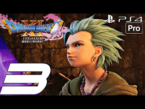 DRAGON QUEST XI - Gameplay Walkthrough Part 3 - Imp Boss & Destroyed Hometown (PS4 PRO)