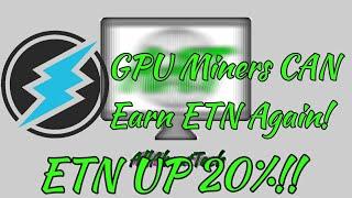 Electroneum UP 20%! iOS Beta Announced! GPU Miners Can Earn ETN Again!