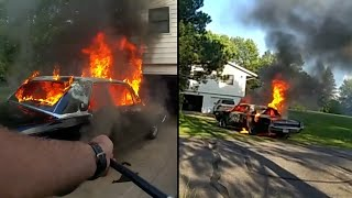Deputy Tows Burning Car While Listening to Classical Music