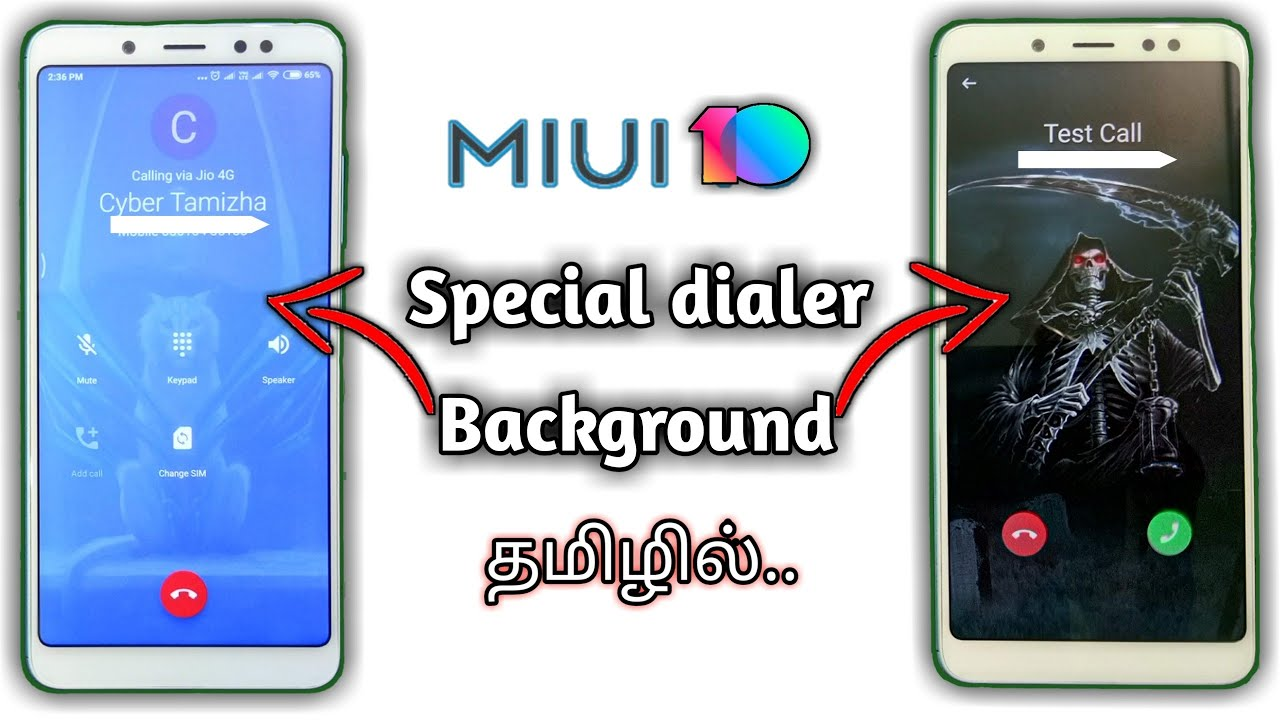 MIUI 10 | Change Incoming Outgoing Call Background | MIUI 10 Caller Screen  Change | Cyber Tamizha