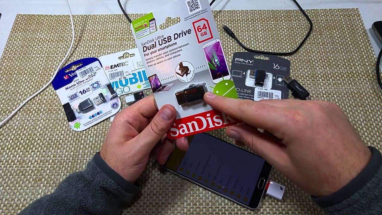 Samsung Galaxy Note 5 Usb Otg On The Go Memory Card Adapters Thumb Flashdisk Sandisk 16gb 16 Gb Ultra Dual M30 Drives