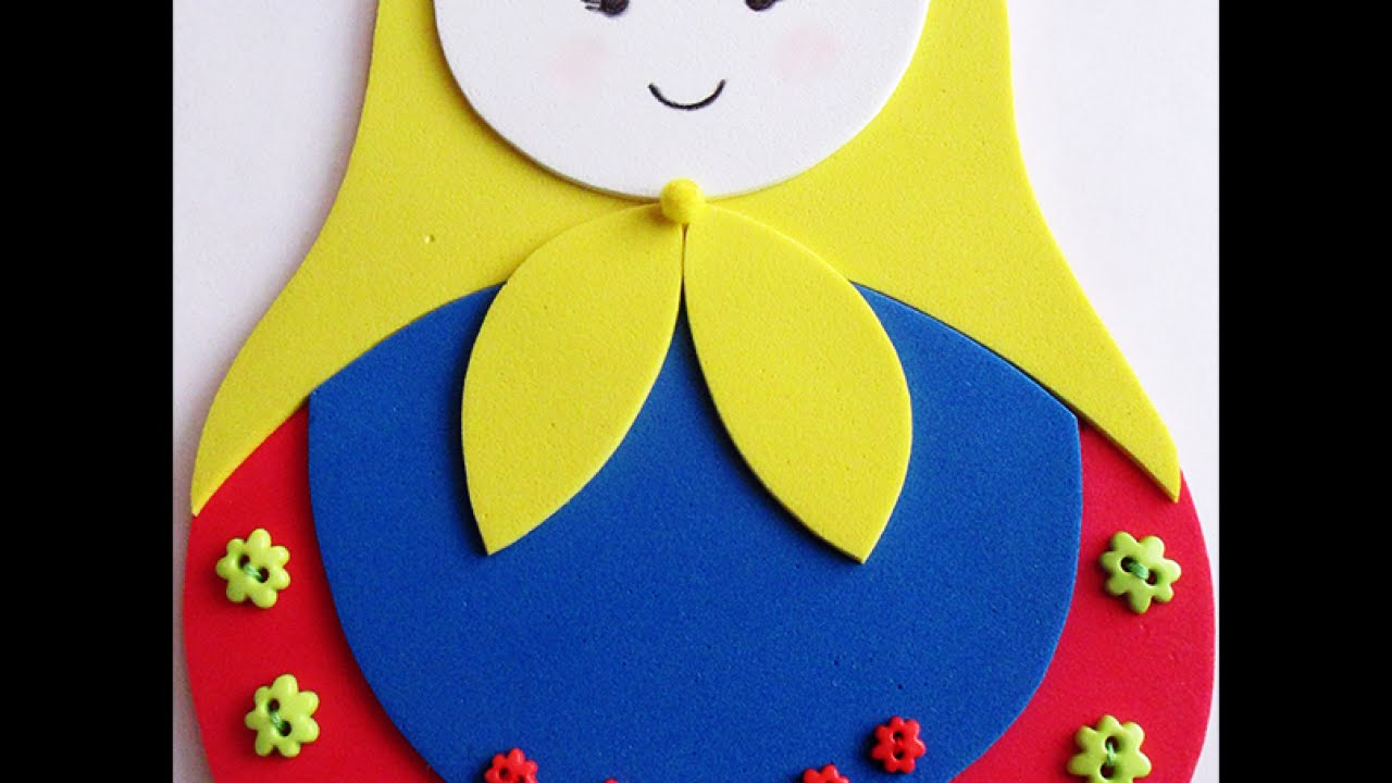 Make A Cute Foam Matryoshka Doll Diy Crafts Guidecentral Youtube