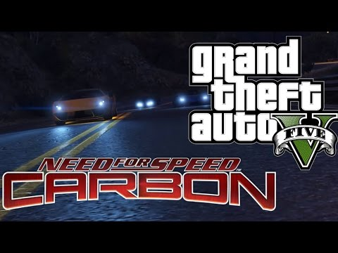 Need for Speed Carbon Downhill Race   GTA 5 PC Cinematic Rockstar Editor