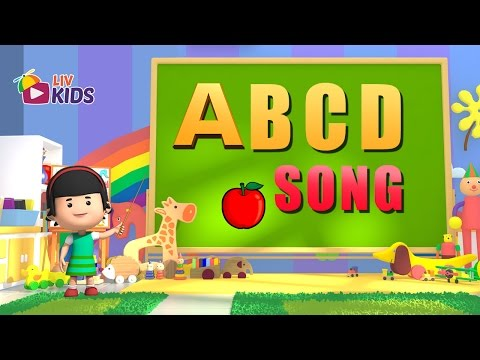 ABCD Alphabet Song with Lyrics | LIV Kids Nursery Rhymes and Songs | HD