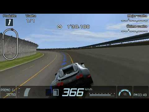 gran turismo psp bugatti veyron top speed youtube. Black Bedroom Furniture Sets. Home Design Ideas