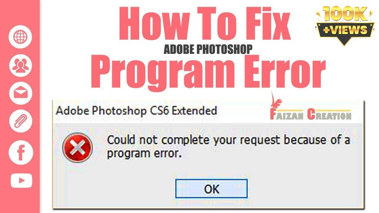 photoshop program error when printing