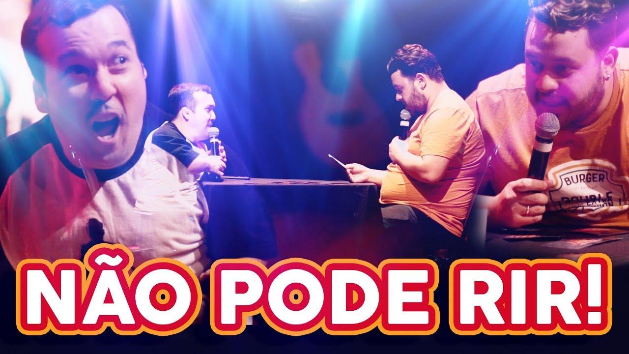 NÃO PODE RIR! UTC no Teatro - ESTEVAM NABOTE vs GIGANTE LÉO!