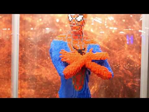 LEGO real 1:1 SPIDERMAN Sculpture - about 2 meters high