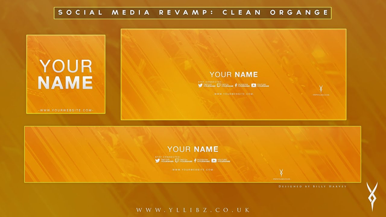 free graphics  social media revamp   u0026quot clean orange