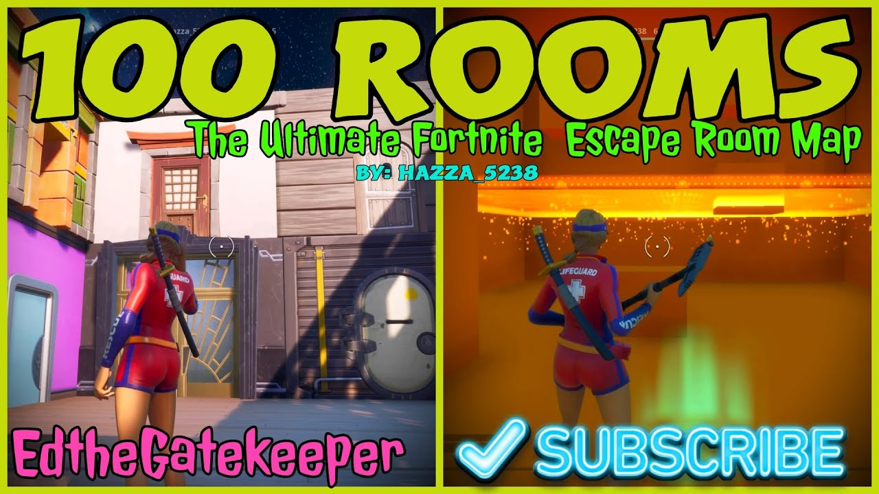 100 Rooms The Ultimate Fortnite Escape Room Map By HAZZA ...