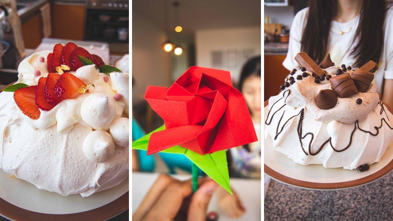 Pavlova de Fresa & Chocolate ㅣOrigami de RosaㅣCoreanas en MexicoㅣFamilia Mexicoreana