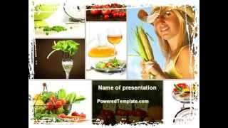 Healthy Food Basket PowerPoint Template by PoweredTemplate.com
