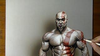 Drawing Kratos God of War