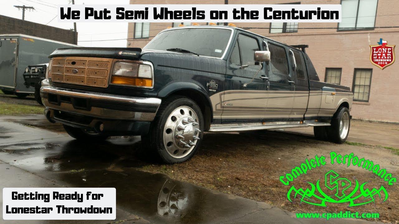 the 1997 f350 ford centurion gets semi wheels   lonestar
