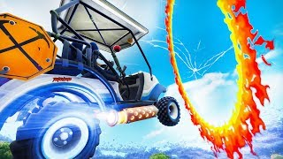 CROSS CAUGHT FIRE WITH A DOLLY OR CART - FORTNITE - CIRCLES