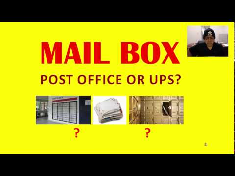 Renting a PO Box at a Post office or at a UPS store? NIK NIKAM