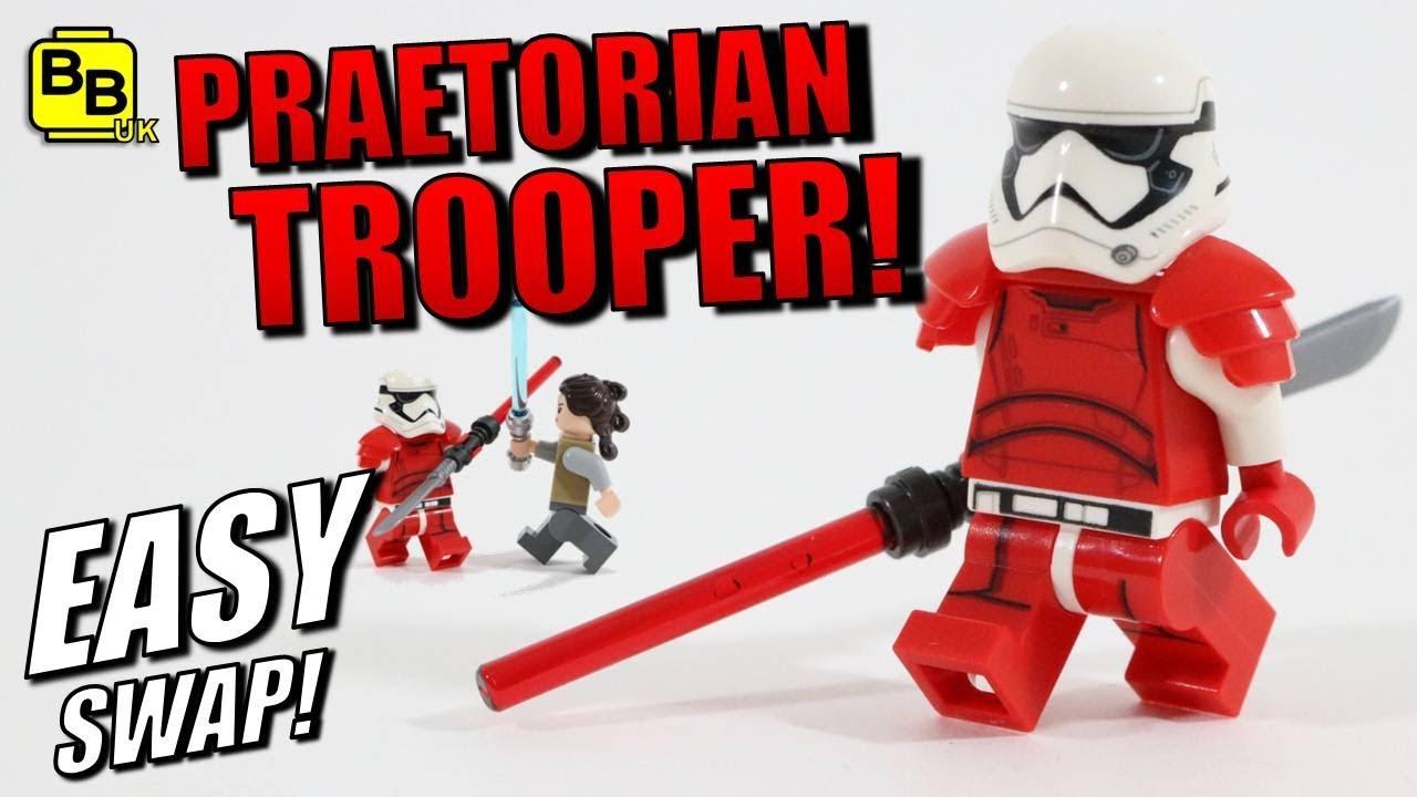 lego star wars praetorian trooper minifigure tutorial