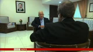 SYRIA DEPUTY FM FAISAL MEKDAD INTERVIEW BBC NEWS