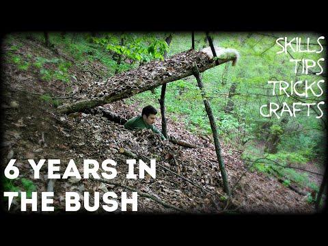 Bushcraft Skills , Crafts , Tips & Tricks – 6 Years in the Bush – HD Video