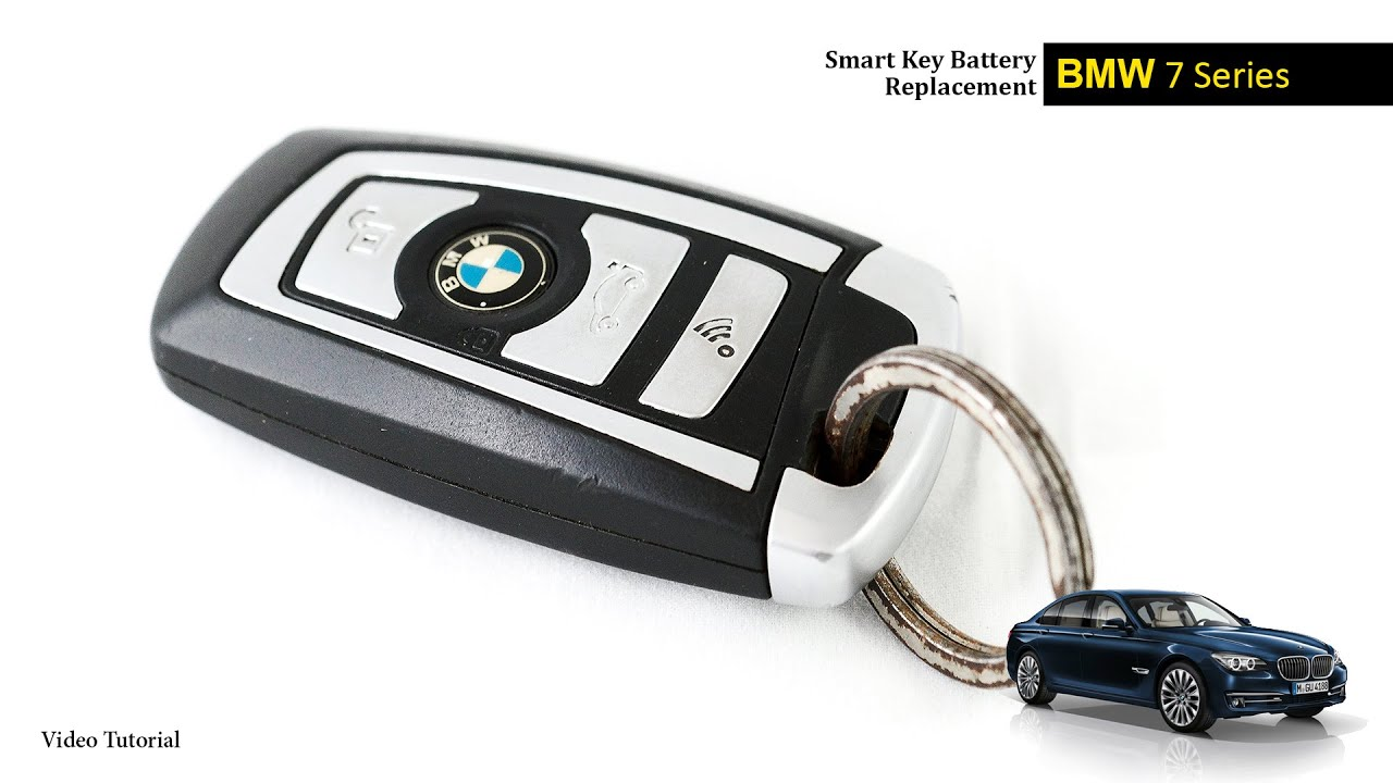 BMW 7 Series Smart Key Battery Change  YouTube