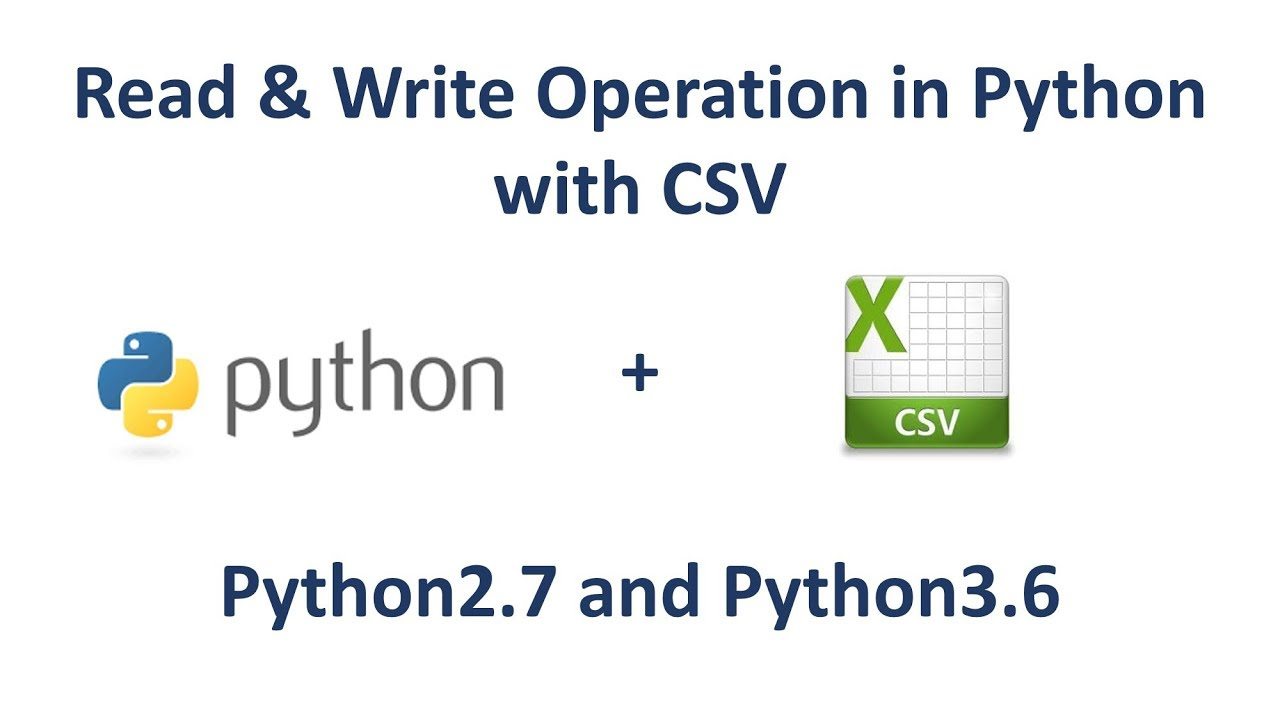 python write csv Every data scientist i know spends a lot of time handling data that originates in csv files you can quickly end up with a mess of csv files located in your documents.