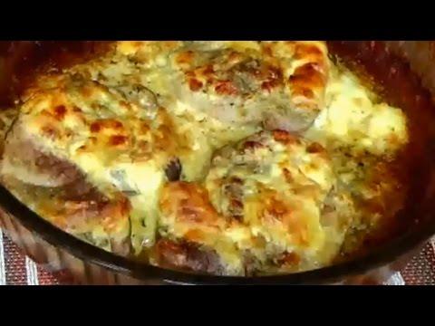 Как делать отбивные из свинины в духовке с сыром