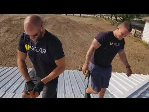Metal roof solar install
