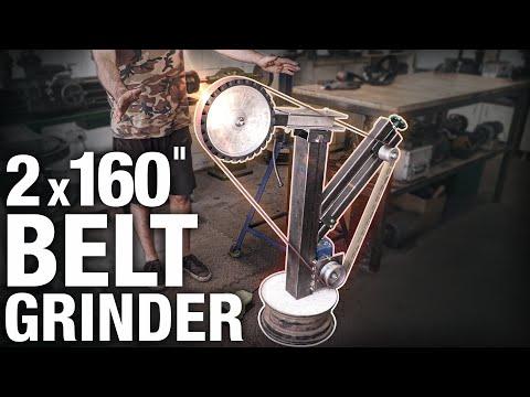 "I Made a BIG 2x160"" Belt Grinder (50x4000mm)"