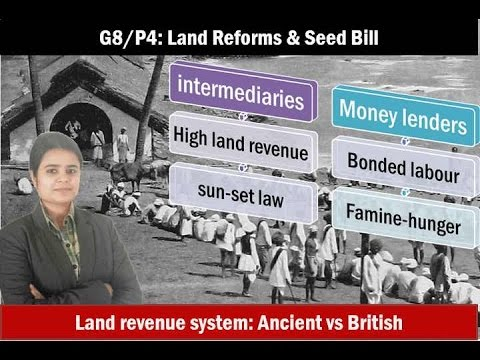 G8/P4: Agriculture Land issues, Land reforms for Mains-GS3