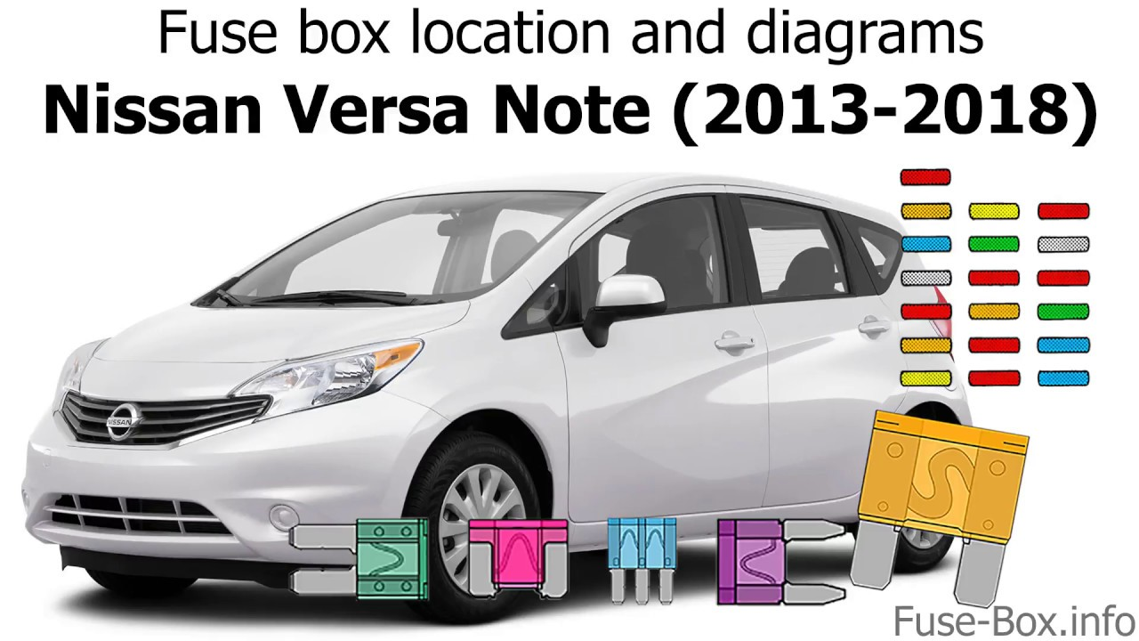 Fuse box location and diagrams: Nissan Versa Note / Note ...