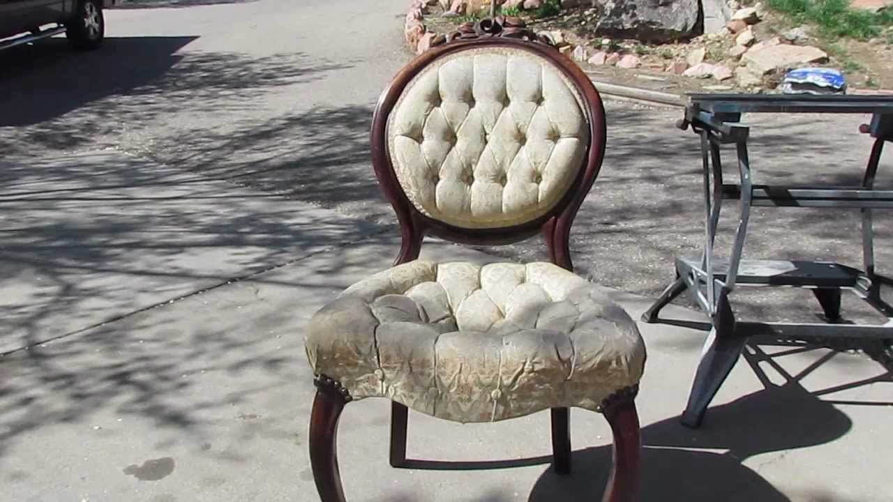 - Diy - Antique Chair Refinish - YouTube