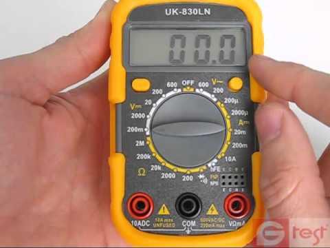 Мультиметр Uk-830ln Инструкция - фото 9