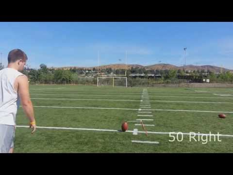 College Field Goal Kicker - Before & After Lesson with Coach Brent