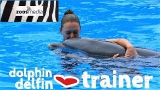LORO PARQUE: Dolphins' PLAYTIME with TOYS and TRAINERS
