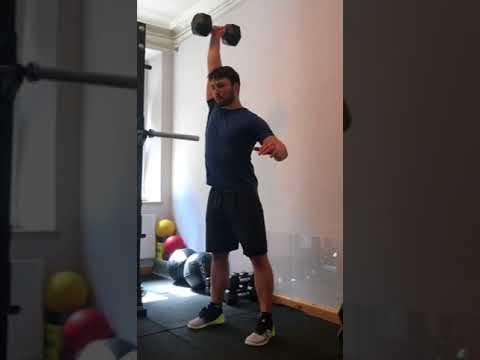Hang Clean and Push Press - Single Arm - DB