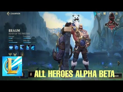 All heroes League of Legend Wild Rift Alpha Beta - YouTube
