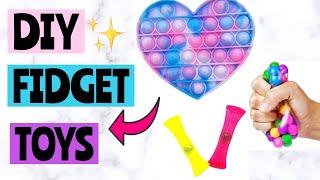DIY FIDGET TOYS! P๐p It Fidgets, Dimple Fidget, Stress Ball | How to make fidget toys! EASY