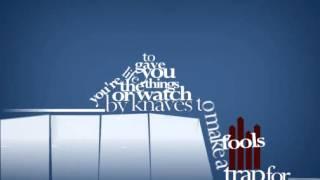 Typography  IF by Rudyard Kipling on Vimeo
