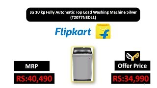 LG 10 kg Fully Automatic Top Load Washing Machine Silver (T2077NEDL1)