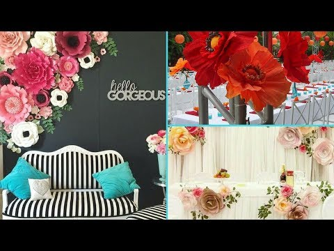 ❤ DIY Shabby Chic Style Giant Paper Flower Backdrop decorations ❤ | Home decor & Interior design |