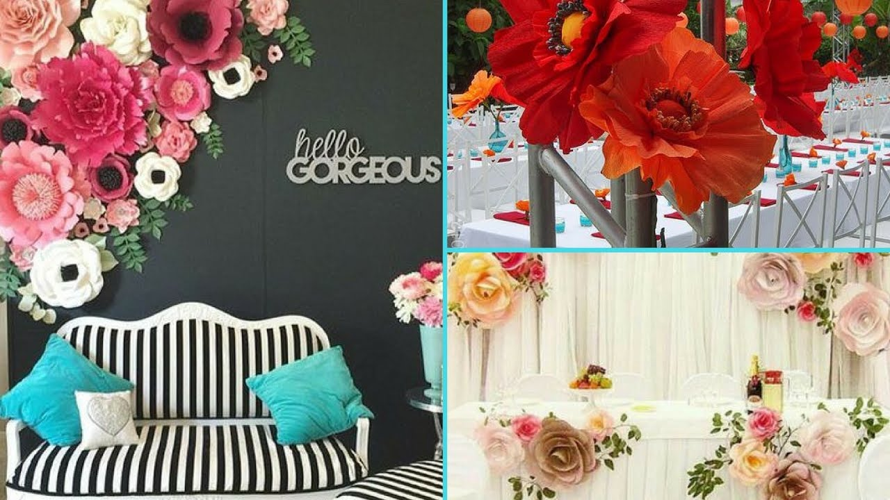 Diy Shabby Chic Style Giant Paper Flower Backdrop Decorations Home Decor Interior Design