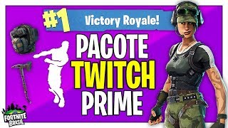 I TOOK THE SKIN OF TWITCH PRIME AND THE MATCH WAS INTENSE! -Fortnite Battle Royale