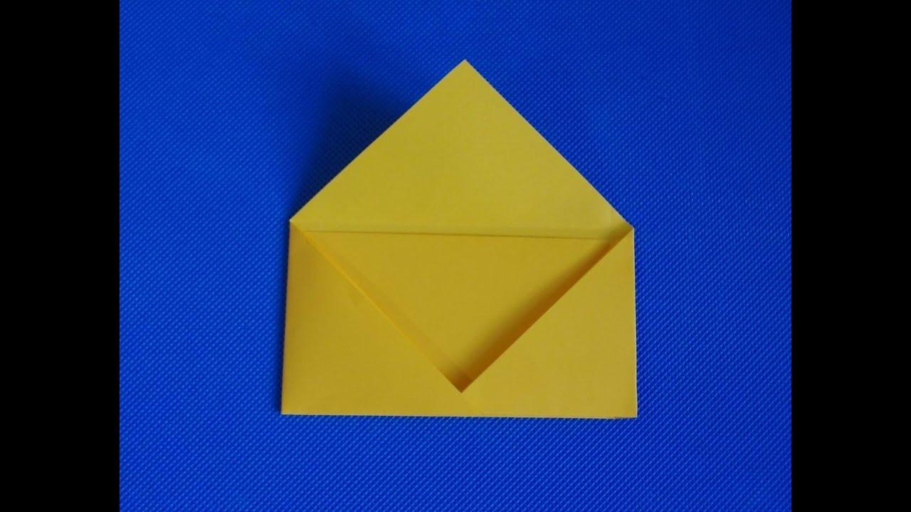 как сделать из бумаги конверт фото
