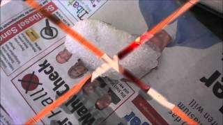 Chemtrailpartikel ! Schnee schmilzt nicht unter Feuer und riecht nach Plastikverbrennung