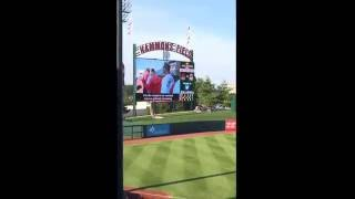 10 year-old Hayden sings National Anthem at Springfield Cardinals game (Double-A affiliate).