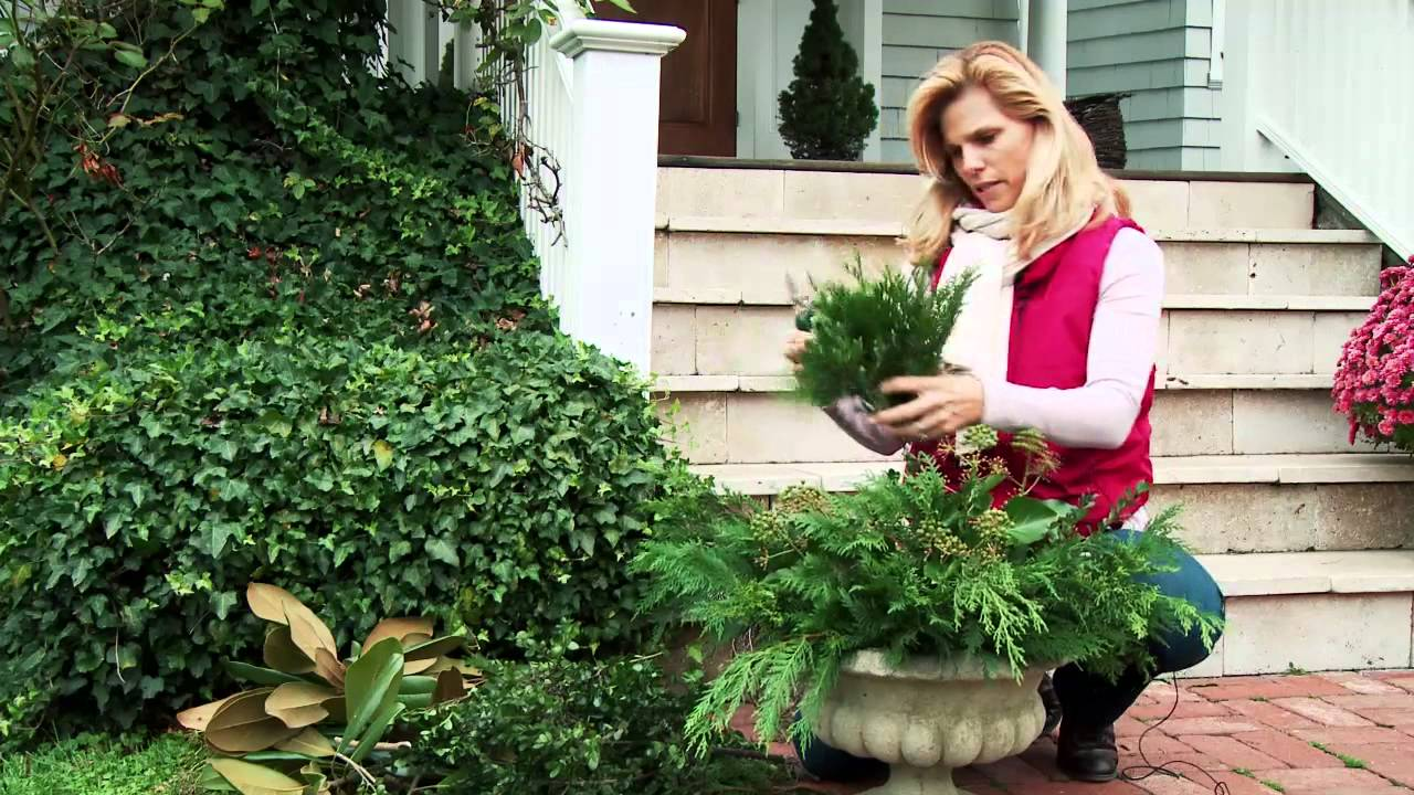 how to decorate outdoor planters for christmas youtube