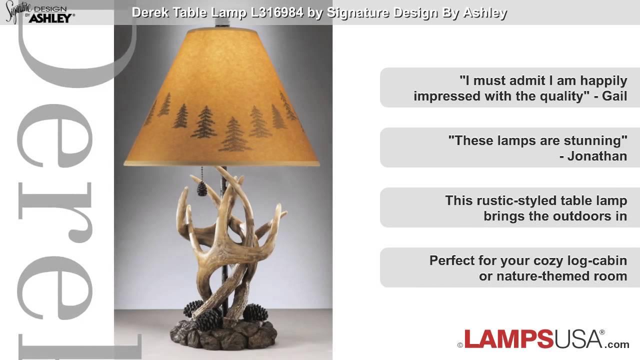 Ashley derek rustic antlers pine cone table lamp l316984 youtube ashley derek rustic antlers pine cone table lamp l316984 lampsusa aloadofball Gallery