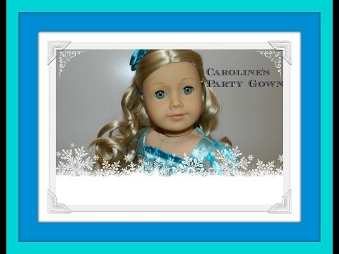 American Girl Doll Caroline Party Gown...like Disney Elsa From Frozen...