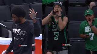 Celtics Fans With The Boos For Kyrie Irving In His Return | Celtics Vs Nets Game 3