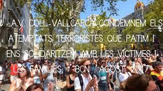 Un minut de silenci a Plaça Catalunya